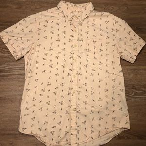 Obey short sleeve button down collared shirt